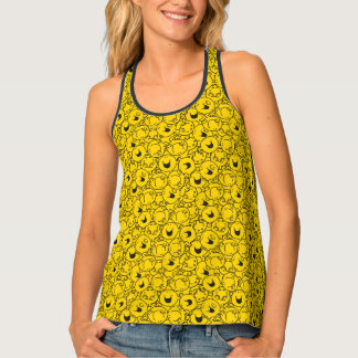 Mr  Happy | Batch of Yellow Smiles Pattern Tank Top