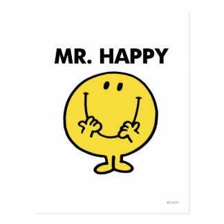 Mr Happy Classic 1 Post Card