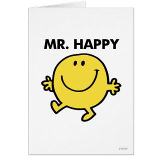Mr. Happy | Dancing & Smiling Greeting Card