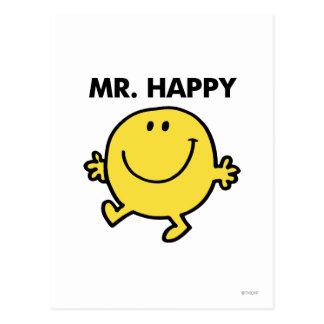 Mr. Happy | Dancing & Smiling Postcard
