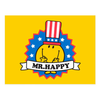 Mr. Happy Election Seal Postcard