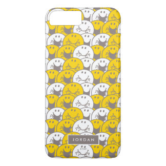 Mr Happy | Flashing Smiles Pattern | Add Your Name iPhone 8 Plus/7 Plus Case
