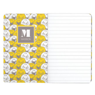 Mr Happy | Flashing Smiles Pattern | Add Your Name Journal