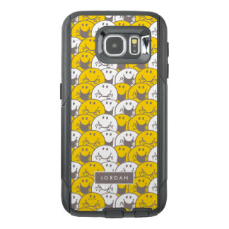 Mr Happy   Flashing Smiles Pattern   Add Your Name OtterBox Samsung Galaxy S6 Case
