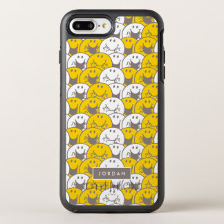Mr Happy | Flashing Smiles Pattern | Add Your Name OtterBox Symmetry iPhone 7 Plus Case