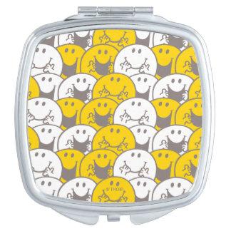 Mr Happy | Flashing Smiles Pattern Makeup Mirror