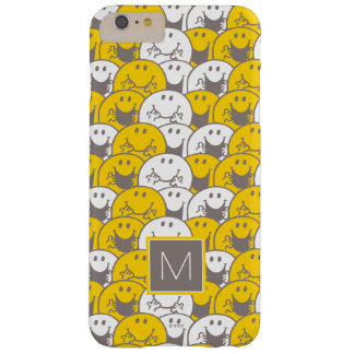 Mr Happy | Flashing Smiles Pattern | Monogram Barely There iPhone 6 Plus Case