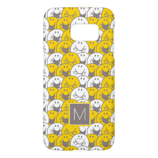 Mr Happy | Flashing Smiles Pattern | Monogram Samsung Galaxy S7 Case