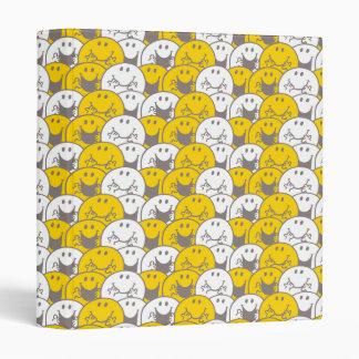 Mr Happy | Flashing Smiles Pattern Vinyl Binders