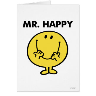 Mr. Happy | Giant Smiley Face Greeting Card