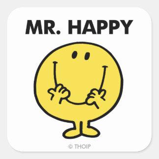 Mr. Happy   Giant Smiley Face Square Sticker
