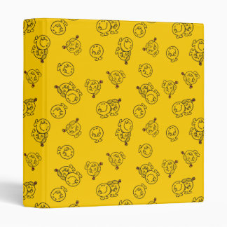 Mr Happy & Little Miss Sunshine | Yellow Pattern 3 Ring Binders
