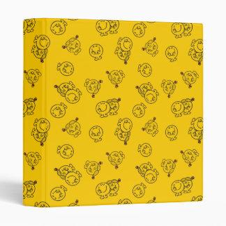 Mr Happy & Little Miss Sunshine | Yellow Pattern Binder