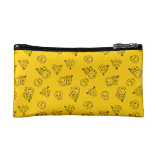 Mr Happy & Little Miss Sunshine | Yellow Pattern Cosmetic Bag