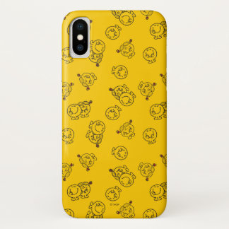 Mr Happy & Little Miss Sunshine | Yellow Pattern iPhone X Case