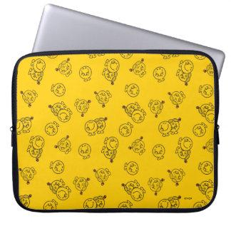 Mr Happy & Little Miss Sunshine   Yellow Pattern Laptop Sleeve