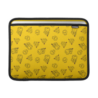 Mr Happy & Little Miss Sunshine | Yellow Pattern Sleeve For MacBook Air