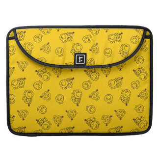 Mr Happy & Little Miss Sunshine | Yellow Pattern Sleeve For MacBook Pro