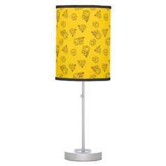 Mr Happy & Little Miss Sunshine | Yellow Pattern Table Lamp