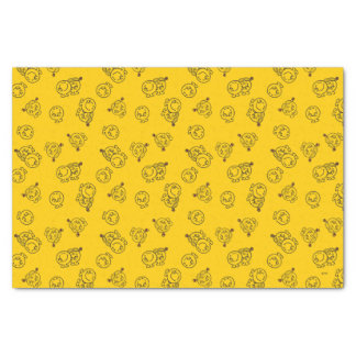 Mr Happy & Little Miss Sunshine | Yellow Pattern Tissue Paper