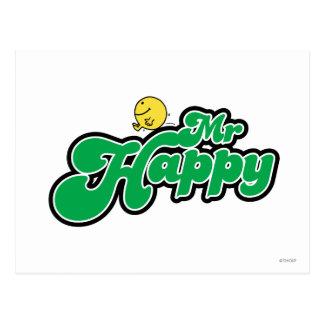 Mr Happy Logo 5 Postcards