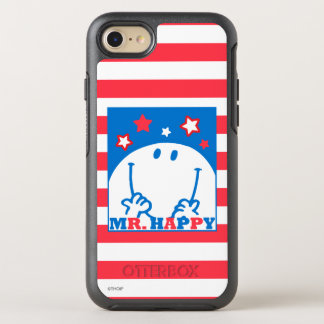 Mr Happy Patriotic Red White And Blue Icon 2 OtterBox Symmetry iPhone 8/7 Case