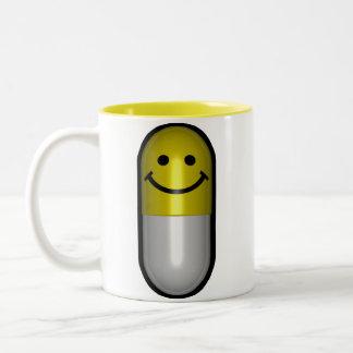 Mr.Happy Pill Two-Tone Coffee Mug