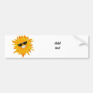 Mr Happy Sunshine - Sunglasses Bumper Sticker