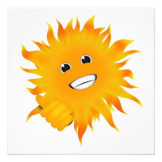 Mr Happy Sunshine - Thumbs Up Personalized Invite