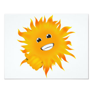 Mr Happy Sunshine - Thumbs Up Personalized Announcements