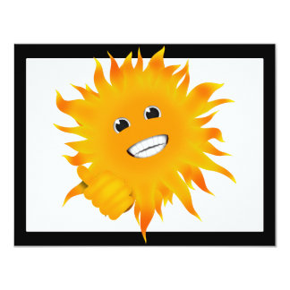 Mr Happy Sunshine - Thumbs Up Personalized Invites