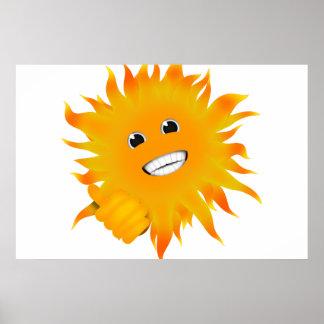Mr Happy Sunshine - Thumbs Up Print