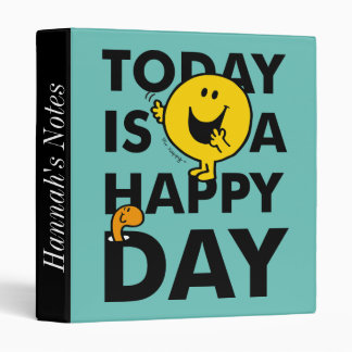 Mr. Happy | Today is a Happy Day 3 Ring Binders