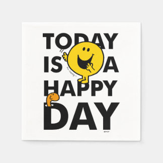 Mr. Happy | Today is a Happy Day Paper Napkins