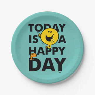 Mr. Happy | Today is a Happy Day Paper Plate