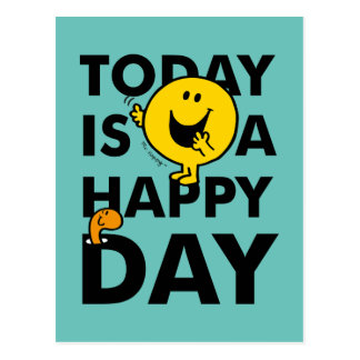 Mr. Happy | Today is a Happy Day Postcard
