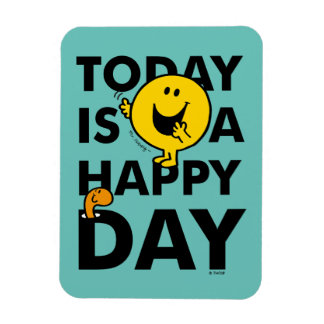Mr. Happy | Today is a Happy Day Rectangular Photo Magnet