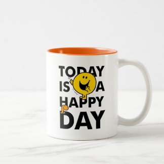 Mr. Happy | Today is a Happy Day Two-Tone Coffee Mug