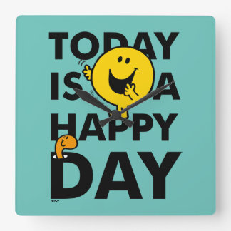 Mr. Happy   Today is a Happy Day Wallclocks