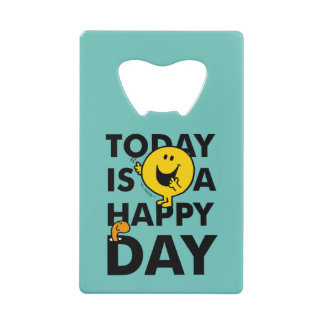 Mr. Happy | Today is a Happy Day Wallet Bottle Opener