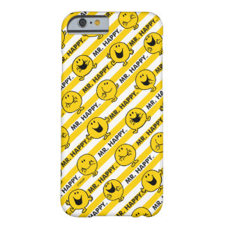 Mr Happy | Yellow Stripes Pattern Barely There iPhone 6 Case
