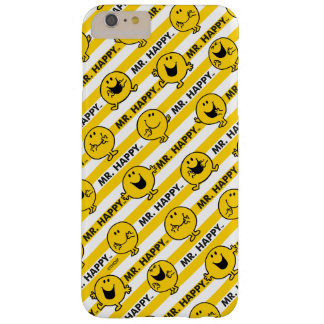 Mr Happy | Yellow Stripes Pattern Barely There iPhone 6 Plus Case