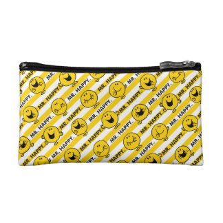 Mr Happy | Yellow Stripes Pattern Cosmetic Bag