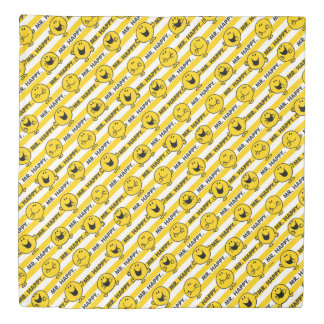 Mr Happy | Yellow Stripes Pattern Duvet Cover
