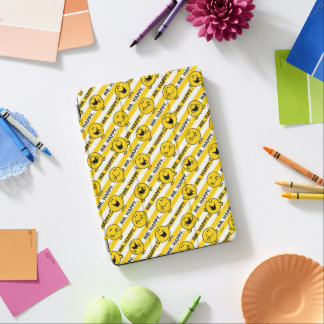 Mr Happy | Yellow Stripes Pattern iPad Air Cover