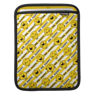 Mr Happy   Yellow Stripes Pattern iPad Sleeve