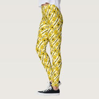 Mr Happy | Yellow Stripes Pattern Leggings