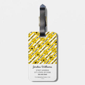 Mr Happy | Yellow Stripes Pattern Luggage Tag
