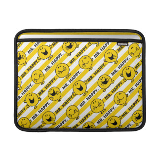 Mr Happy | Yellow Stripes Pattern MacBook Sleeve