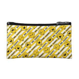 Mr Happy   Yellow Stripes Pattern Makeup Bag